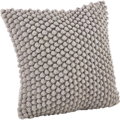 Camargue Cotton Throw Pillow Color: Gray