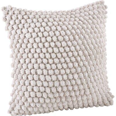 Camargue Cotton Throw Pillow Color: White