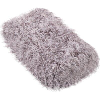 Sevan Faux Mongolian Fur Throw Blanket Color: Fog