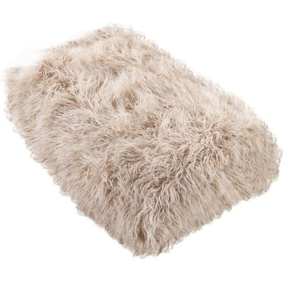 Shalon Faux Mongolian Fur Throw Blanket Color: Oatmeal