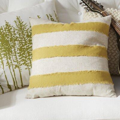 Cap Ferrat Banded Cotton Throw Pillow Color: Chartreuse