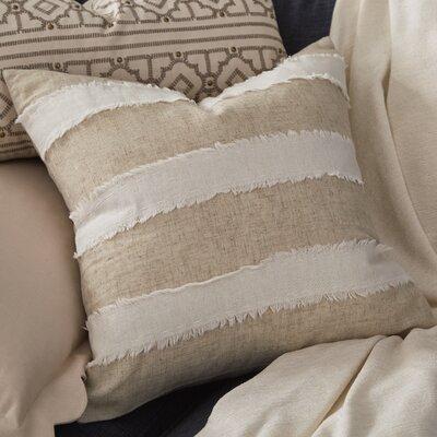 Cap Ferrat Banded Cotton Throw Pillow Color: Ivory