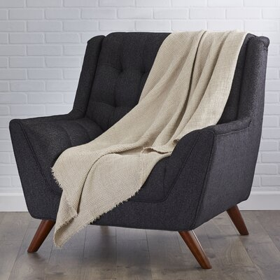 LExcellence Waffle Weave Linen Throw Blanket Color: Natural