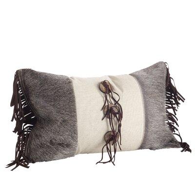 Cowhide Suede Fringe Western Lumbar Pillow