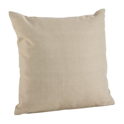 Verrett Solid Indoor/Outdoor Throw Pillow Color: Beige, Size: 17 H x 17 W