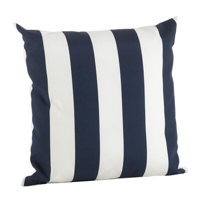 Woodcrest Stripe Indoor/Outdoor Throw Pillow Color: Navy Blue, Size: 17 H x 17 W