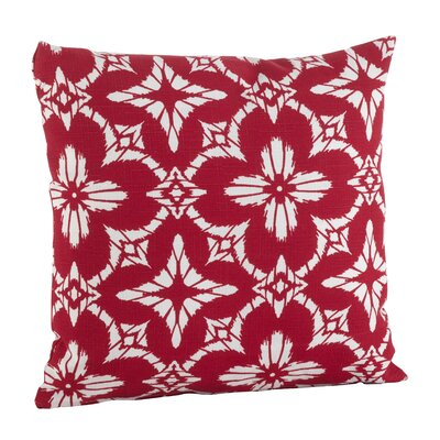 Moroccan Tiled Quatrefoil Indoor/Outdoor Throw Pillow Size: 17 H x 17 W, Color: Red