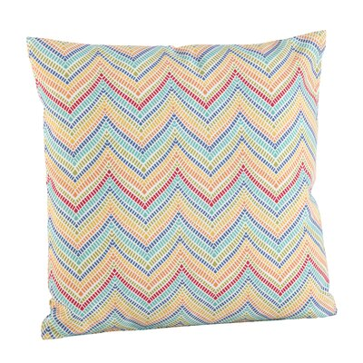 Chevron Zig Zag Indoor/Outdoor Throw Pillow Size: 21 H x 21 W