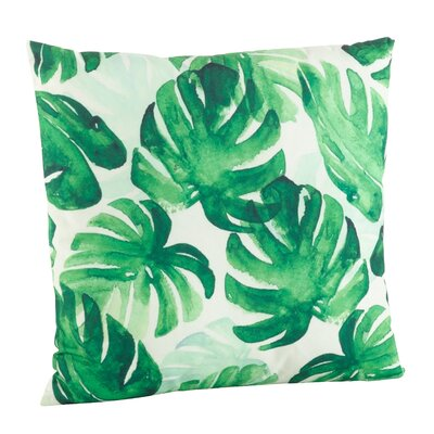 Sherwick Palm Leaf Print Indoor/Outdoor Throw Pillow