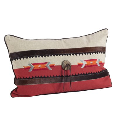 Navajo Southwestern Embroidered Design Lumbar Pillow