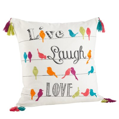 Vivace Embroidered 100% Cotton Throw Pillow
