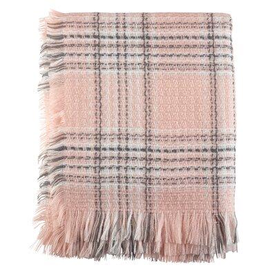 Peters Classic Plaid Fringe Hem Blanket