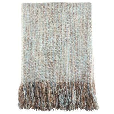 Maricela Fringe Hem Blanket Color: Aqua