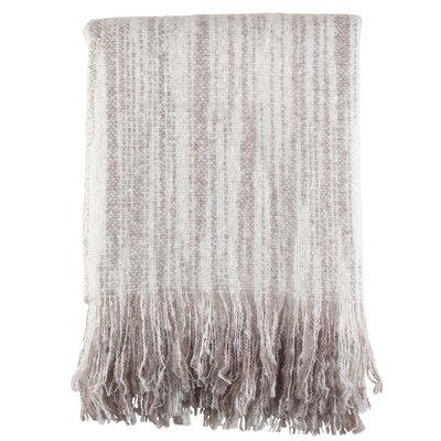 Maricela Fringe Hem Blanket Color: Gray