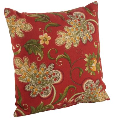 Flowering Vine Indoor/Outdoor Throw Pillow Size: 17 H x 17 W, Color: Rouge