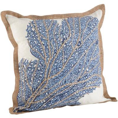 Neptunian Sea Fan 100% Cotton Throw Pillow
