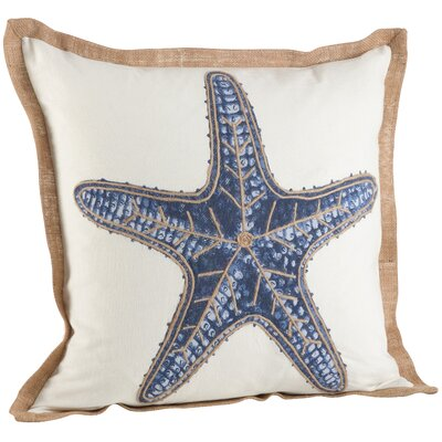Neptunian Star Fish Cotton Throw Pillow