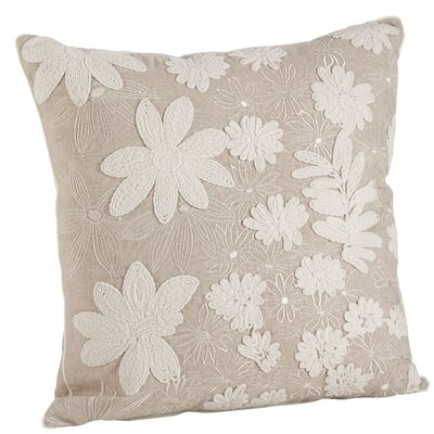 Wonderland Cotton Floral Embroidery 100% Cotton Throw Pillow