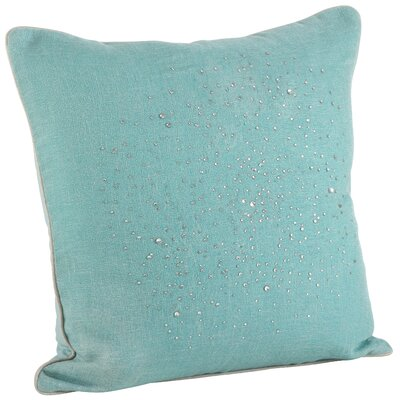 Crystal Rhinestone Gem Down Filled Throw Pillow Color: Aqua