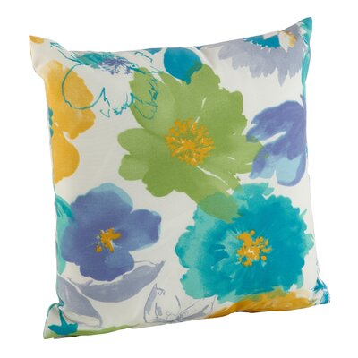 Watercolor Floral Art Indoor/Outdoor Throw Pillow