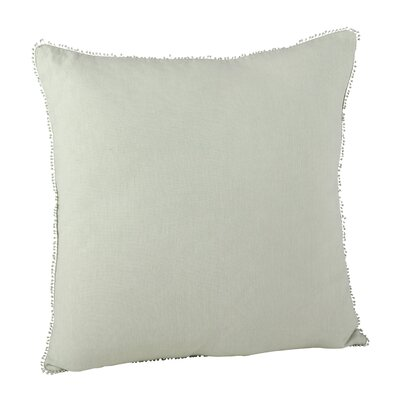 Pomponin Linen Throw Pillow Color: Celery