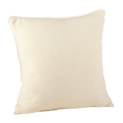 Pomponin Linen Throw Pillow Color: Cream