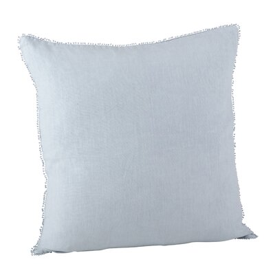 Pomponin Linen Throw Pillow Color: Lilac