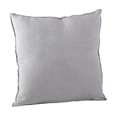 Graciella Fringed Linen Throw Pillow Color: Pewter