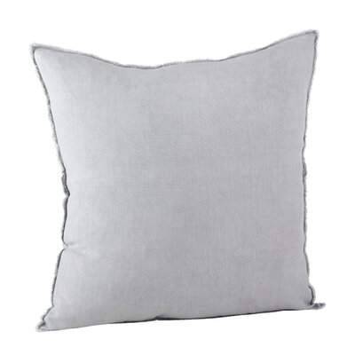 Graciella Fringed Linen Throw Pillow Color: Gray