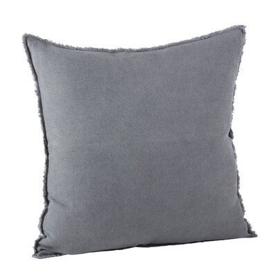 Graciella Fringed Linen Throw Pillow Color: Slate