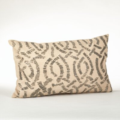 Beaded Cotton Throw Pillow Color: Pewter