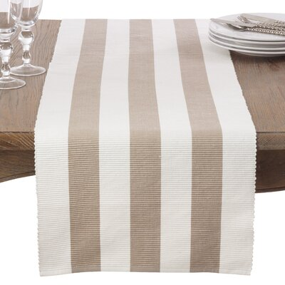 Ribbed Stripe Cotton Table Runner 8024.T1672B