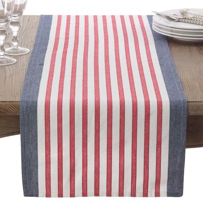 Striped Cotton Table Runner 8027.NB1672B