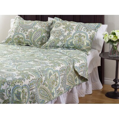 La Mirande 3 Piece Quilt Set Size: King