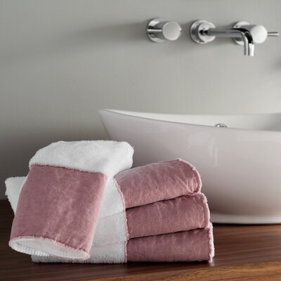 Plush Terry Hand Towel Color: Rose
