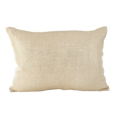Laurel Metallic Foiled Shimmer Lumbar Pillow Color: Ivory