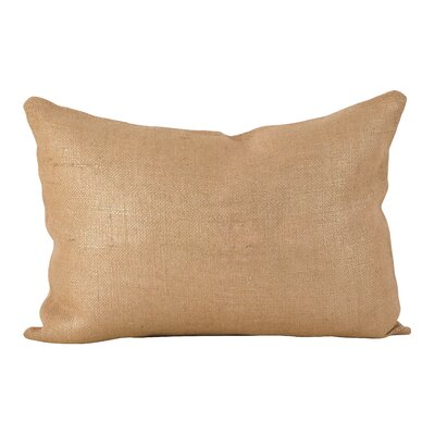 Laurel Metallic Foiled Burlap  Lumbar Pillow Color: Natural
