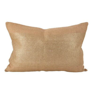 Laurel Metallic Stripe Band Foiled Lumbar Pillow Color: Natural