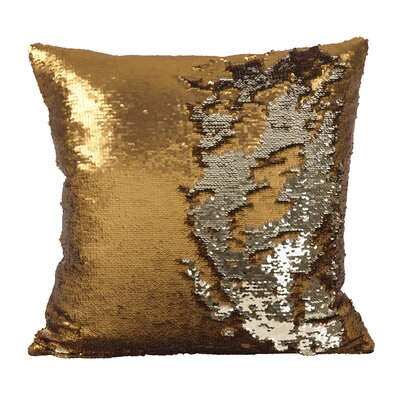 Sequin Mermaid Polyester Throw Pillow Color: Copper