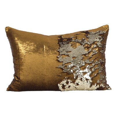 Shonta Sparkle Lumbar Pillow Color: Copper