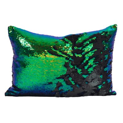 Shonta Sparkle Lumbar Pillow Color: Teal