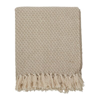 Beechwood Classic Design Tassel Trim Traditional Cotton Throw