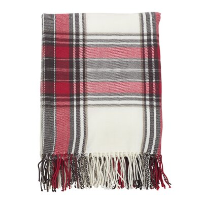 Auburnhill Classic Plaid Pattern Tassel Trim Border Design Throw