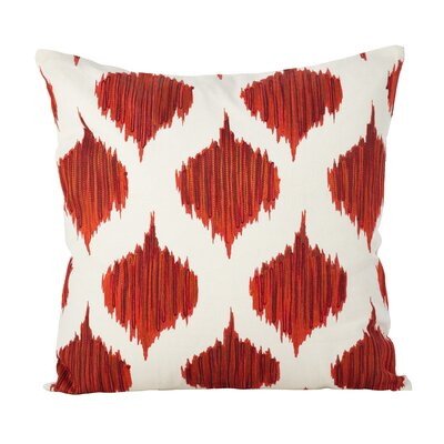 Aumiller Stitched Ikat Geometric Cotton Throw Pillow Color: Brick