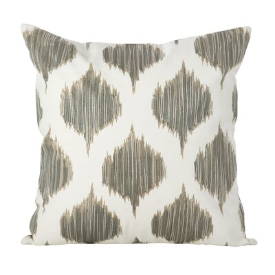 Aumiller Stitched Ikat Geometric Cotton Throw Pillow Color: Grey