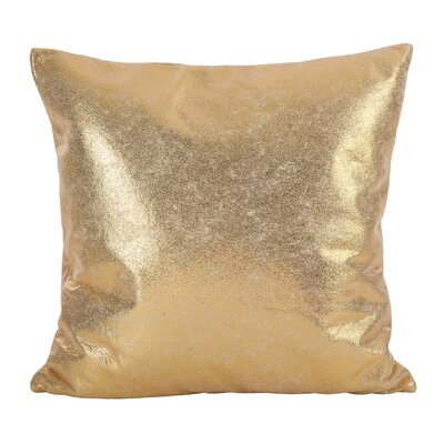 Alejandre Shimmering Metallic Foil Throw Pillow Color: Gold
