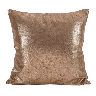 Alejandre Shimmering Metallic Foil Throw Pillow Color: Rose