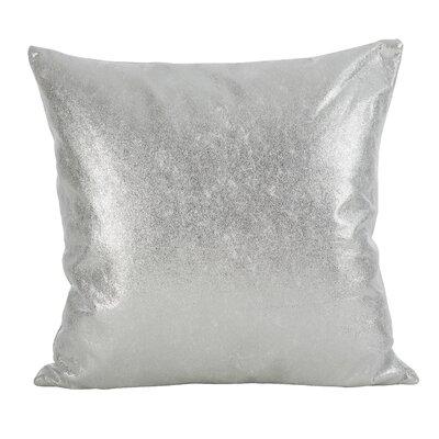 Alejandre Shimmering Metallic Foil Throw Pillow Color: Silver