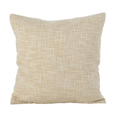 Angeville Woven Metallic Throw Pillow Color: Gold