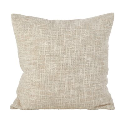 Angeville Woven Metallic Throw Pillow Color: Silver
